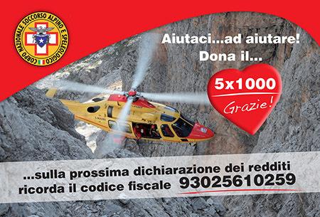 Dona il 5x1000 al Soccorso Alpino