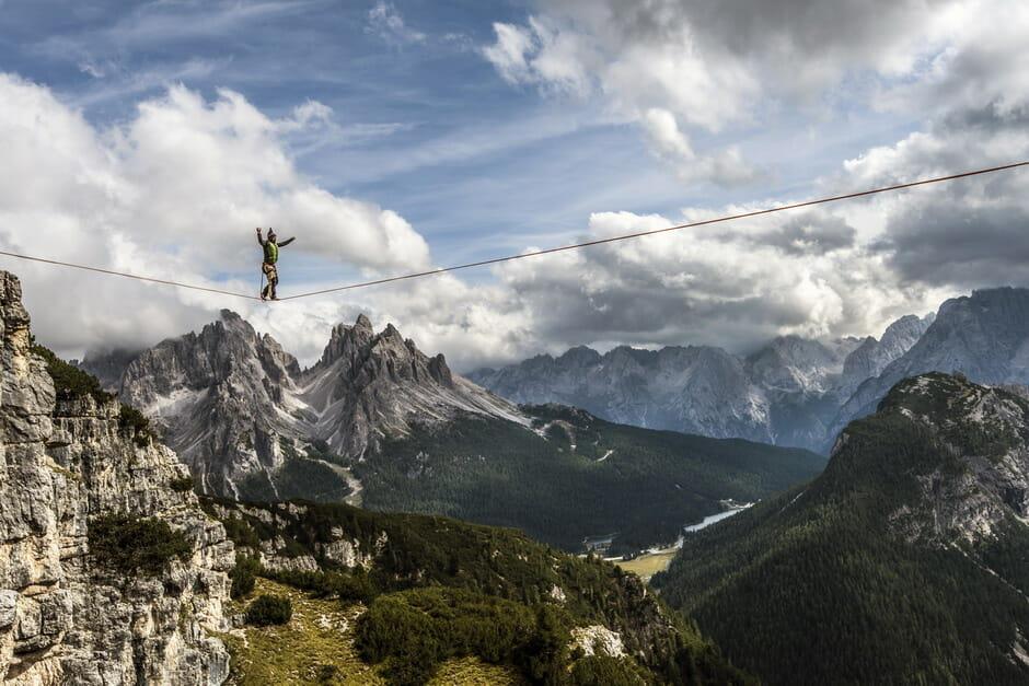 Monte Piana highlining