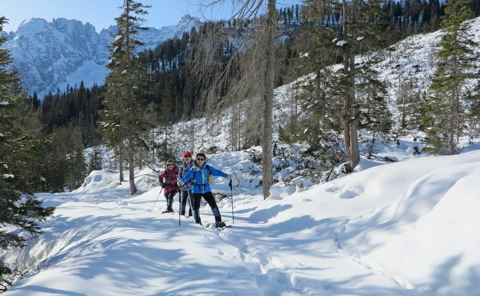 Snowshoeing at Pousa Marza.