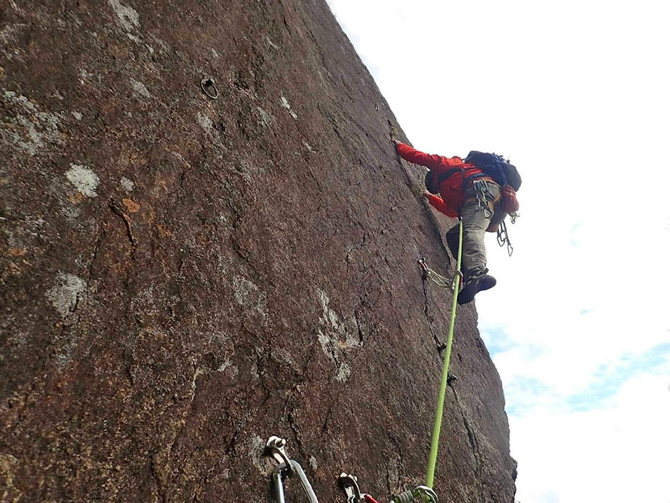 Enrico climbing on Seppiko-san