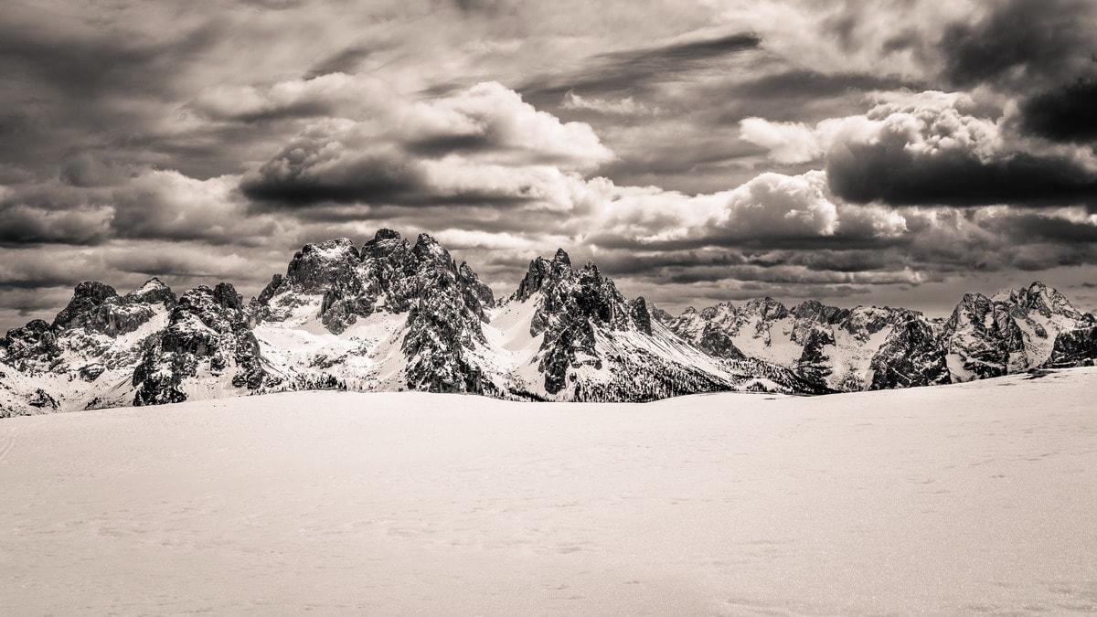 Terrazzo nevoso sui Cadini - di Fabrizio Benucci - Conegliano (TV) - Concorso fotografico 2017