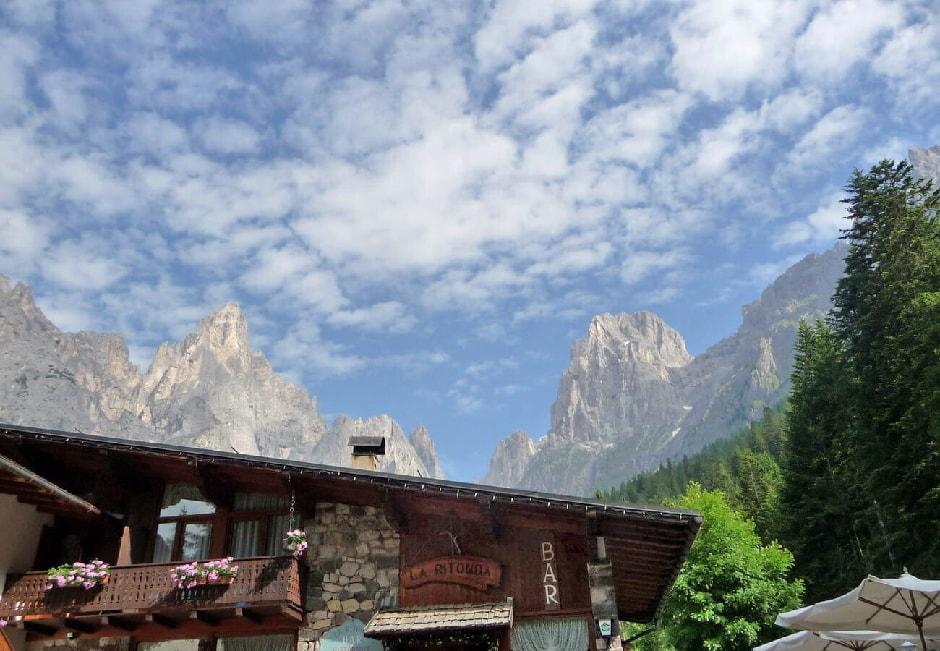 """View of Pale di San Martino mountains from """"La Ritonda"""""""