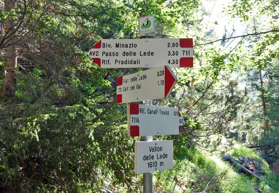 Directions to the Vallon delle Lede