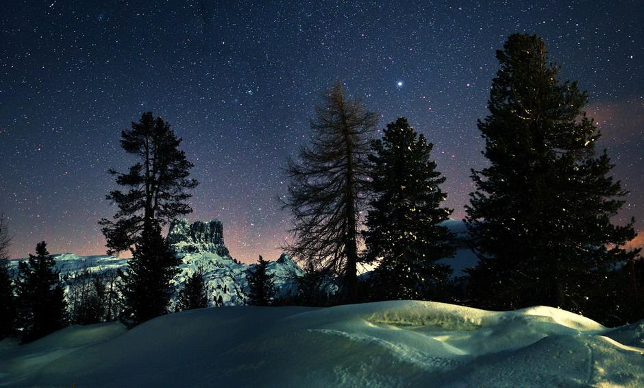 Notte invernale stellata.