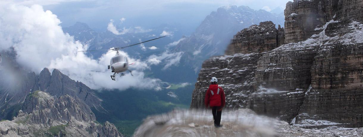 Tony Scott climbing in the Dolomites