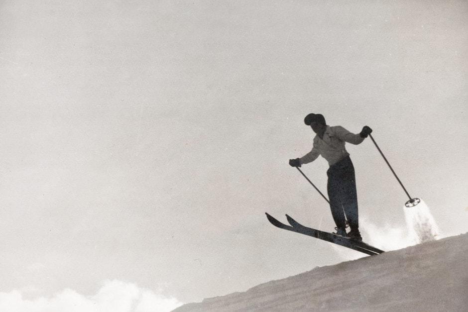 Bortolin con gli sci
