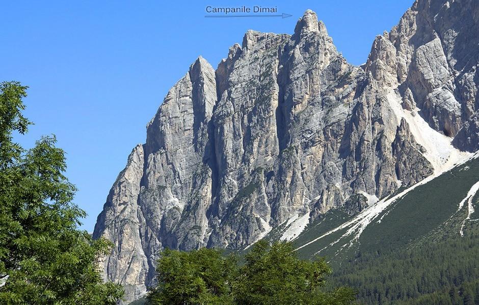 Il campanile Dimai visto da Cortina