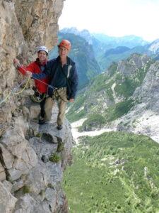 In attraversata sul Campanile di Val Montanaia