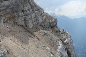 Giro del Sorapiss - Escursionisti sulla Cengia del Banco