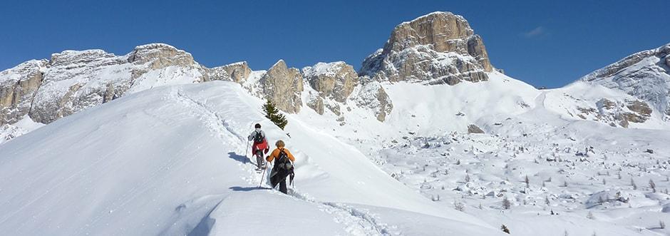 Cosa fare in montagna in inverno se non si scia: ciaspole
