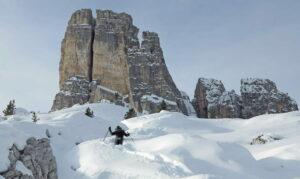 Cinque Torri snow shoe hike
