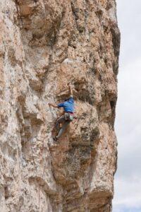 Enrico Maioni in Cinque Torri