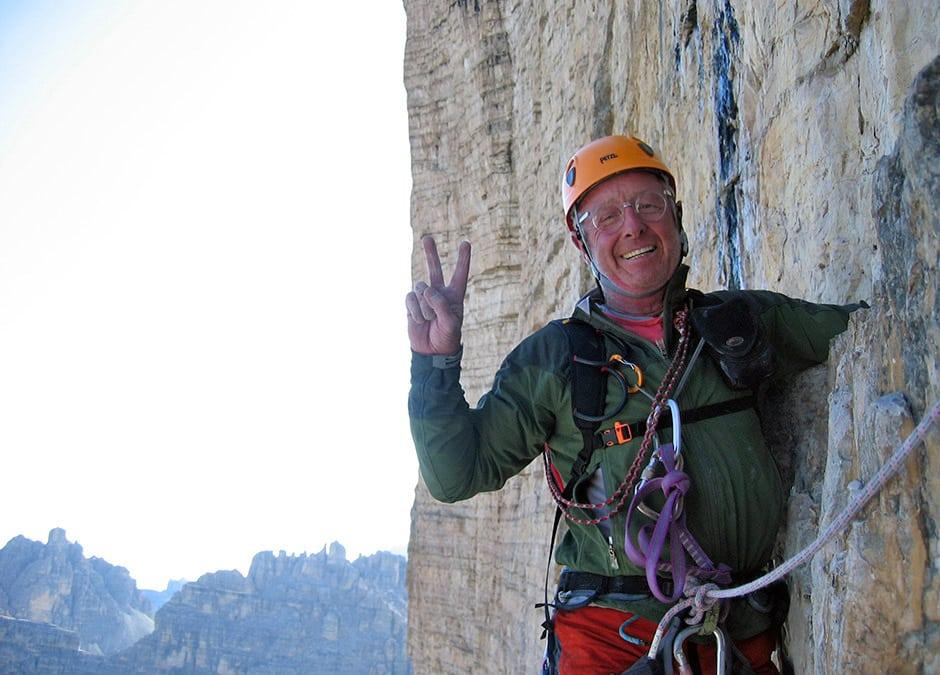 Tony Scott climbing on Lavaredo