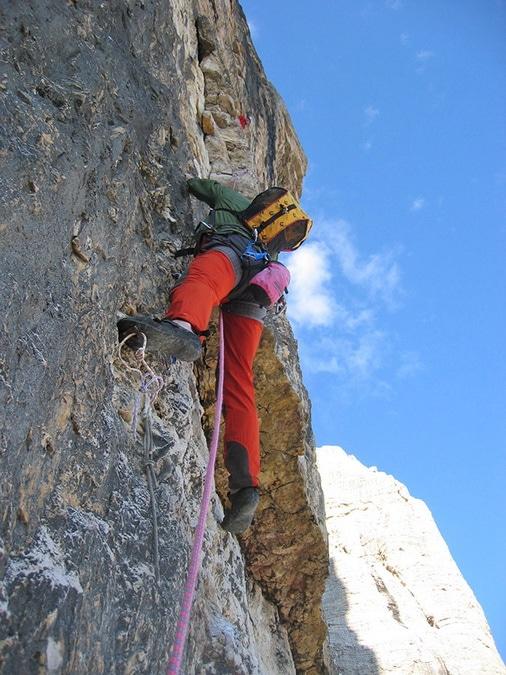 Tony Scott climbing Cima Grande di Lavaredo
