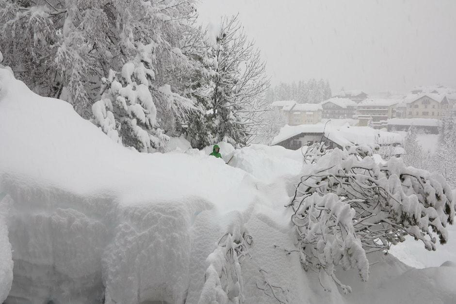 Grande nevicata a Cortina - Inverno 2013-14