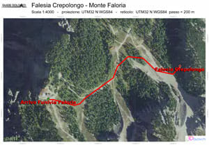 Map Falesia Crepo Longo