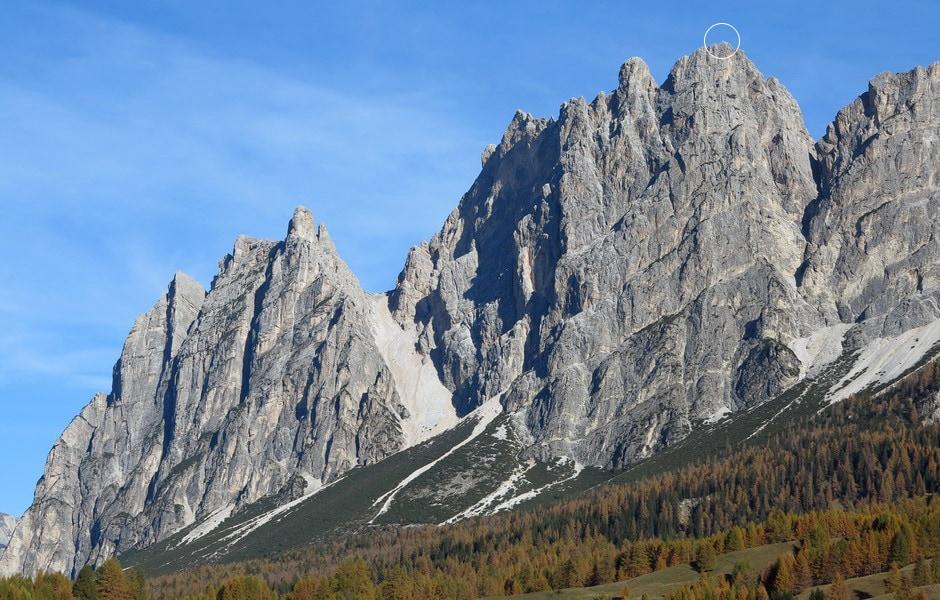 Il monte Pomagagnon.