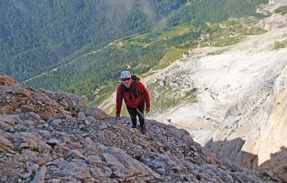 Alberto Giovannini climbing Tofana