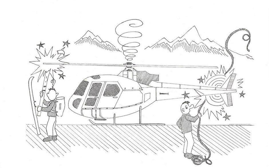 Pericolo di oggetti lunghi o leggeri contro i rotori