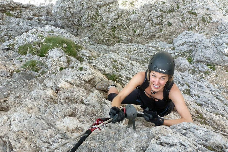Sulla ferrata degli Alpini