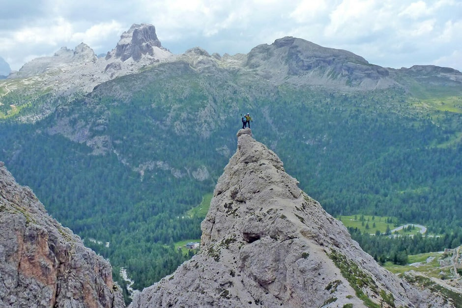 Descending from the ferrata del Col dei Bos