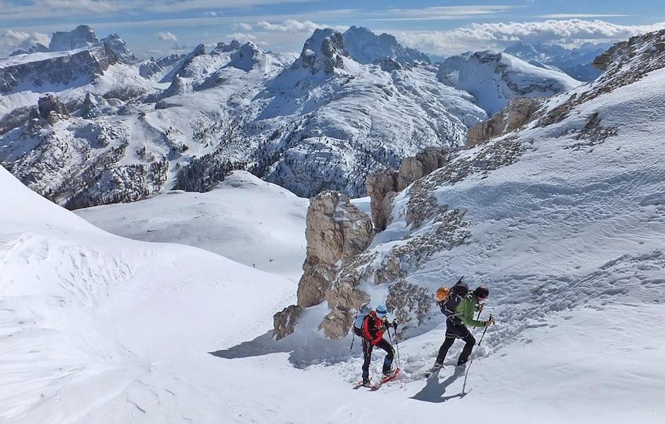 Via ferrata degli Alpini in inverno
