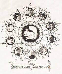 Bortolo Pompanin Bortolin e gli altri fondatori Gruppo Scoiattoli Cortina