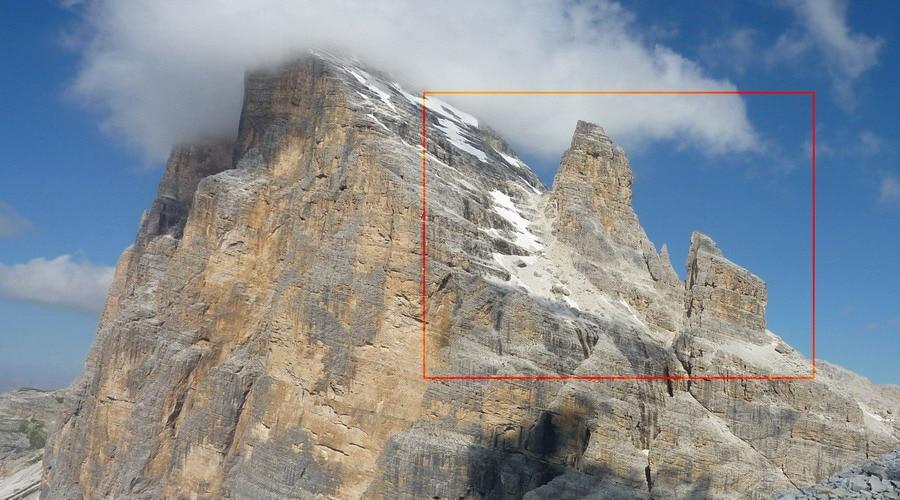 Landslide on the Tofana