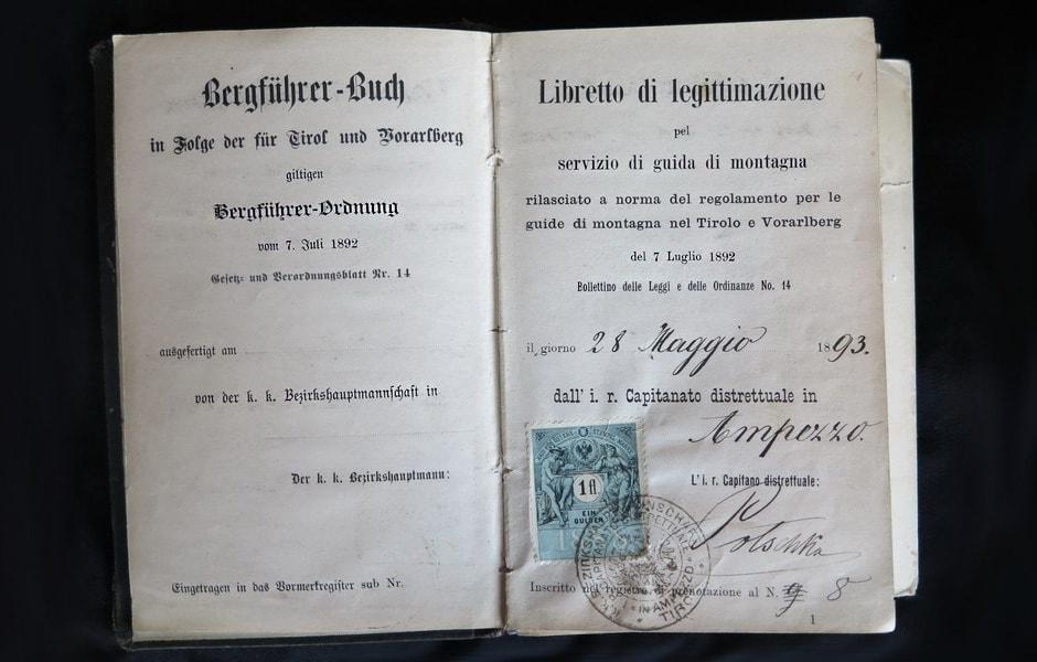 Libretto di guida alpina di Tobia Menardi
