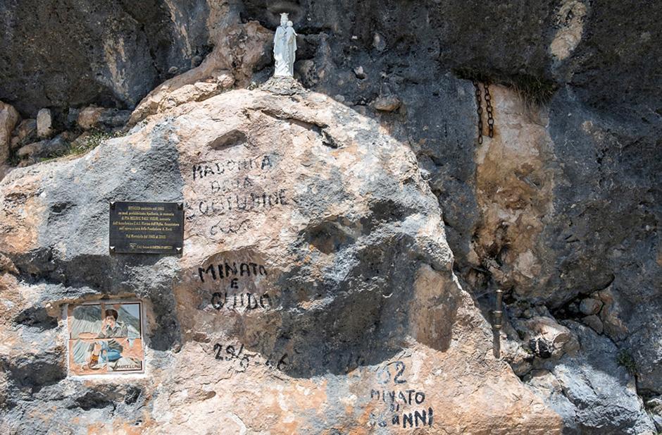 Aureola sulla Madonna della Solitudine