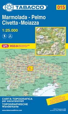 Tabacco map Marmolada - Pelmo - Civetta - Moiazza