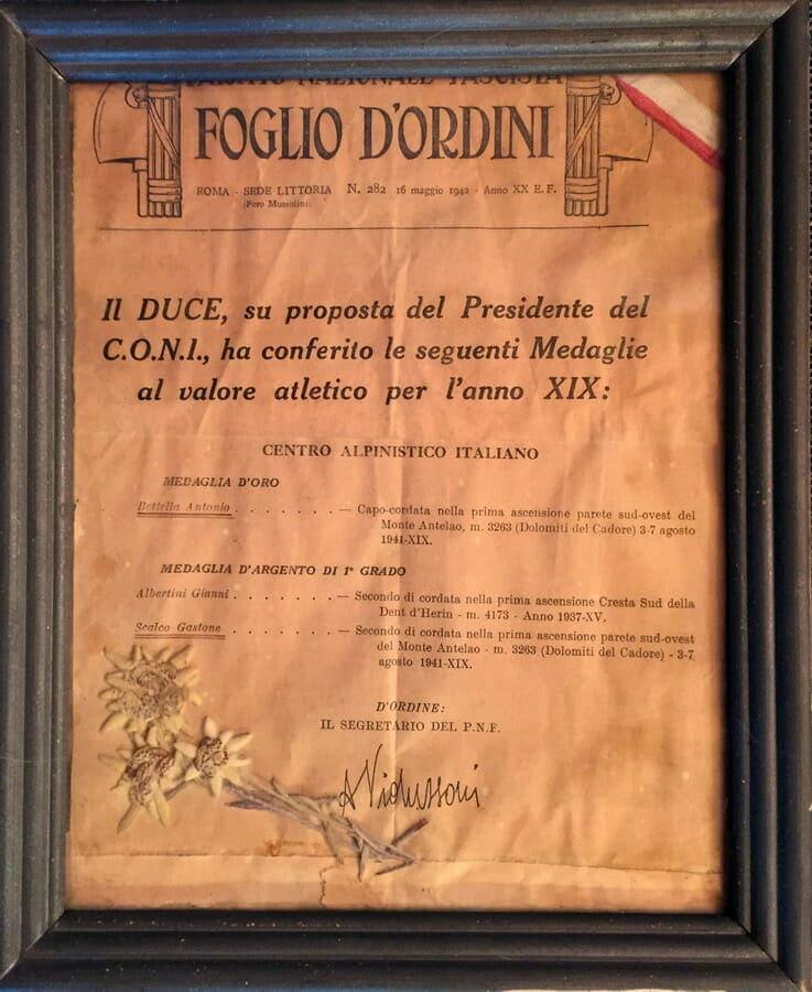Medaglia Antonio Bettella