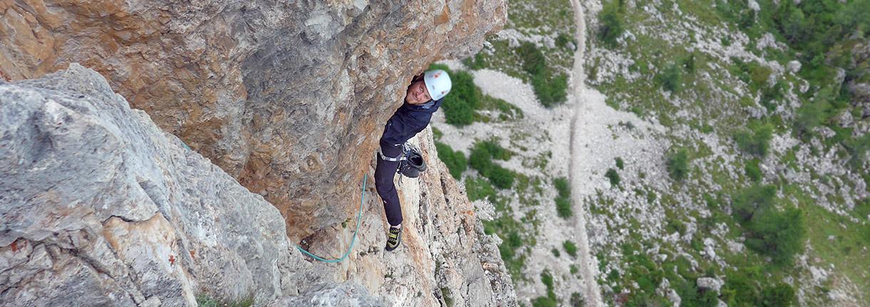 Multi pitch climbing- Cinque Torri