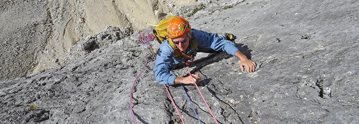 Corda da arrampicata - Scalatore sul Lagazuoi