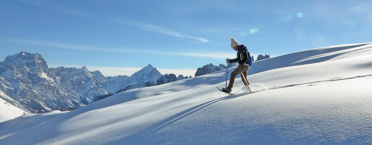Escursioni con le ciaspe a Cortina