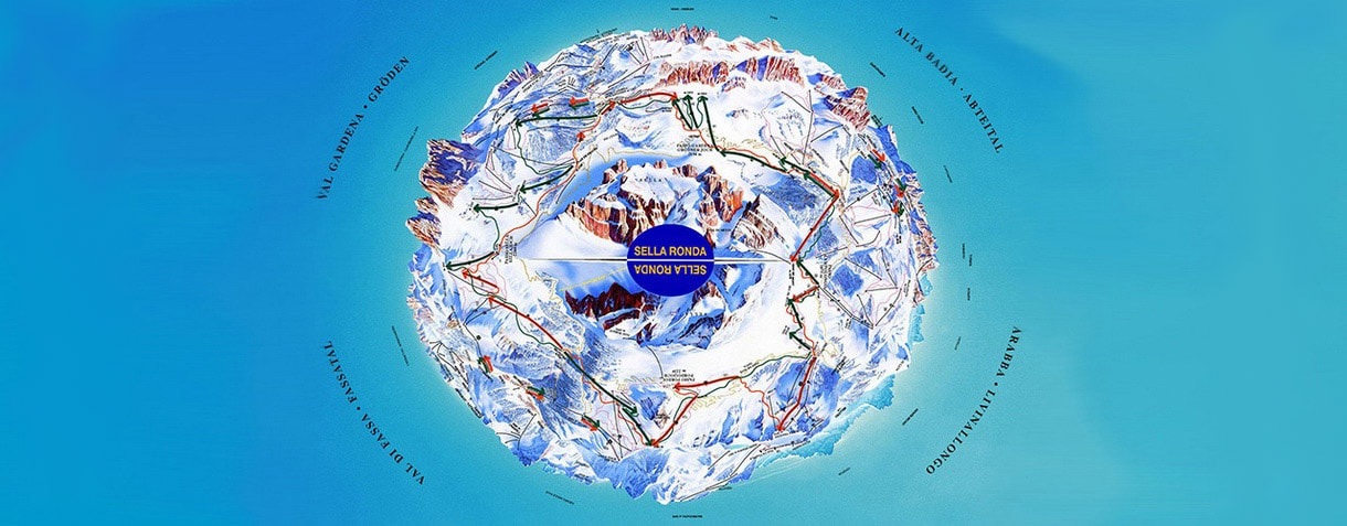 Cartina del Sellaronda