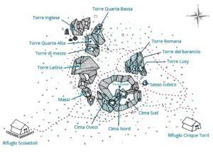 Cinque Torri Map