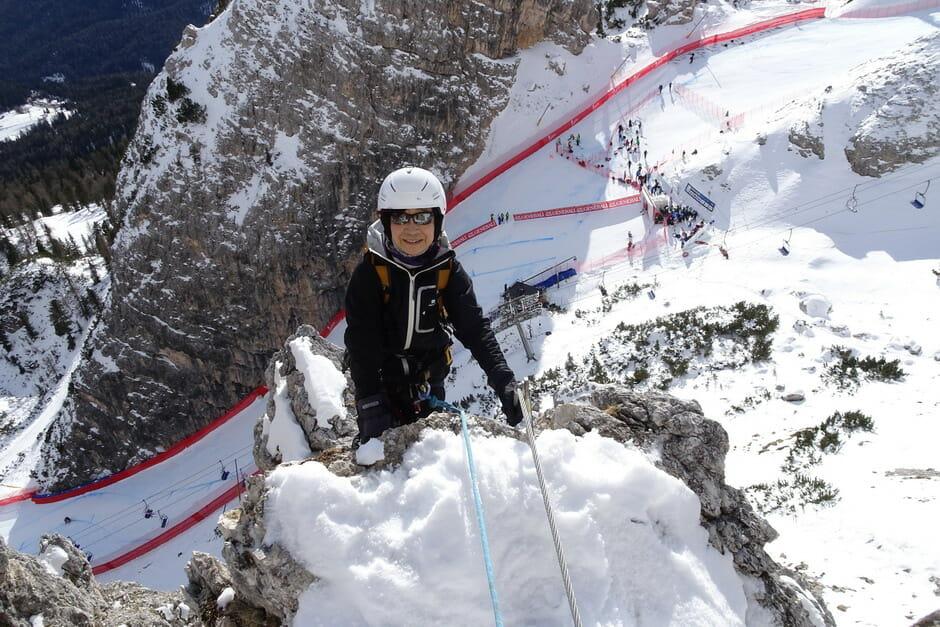 Ferrata Maria e Andrea Ferrari in inverno