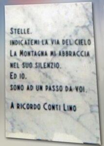 Targa in ricordo di Lino Conti