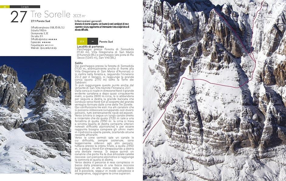 Copertina Sci ripido e scialpinismo sui Tremila delle Dolomiti.