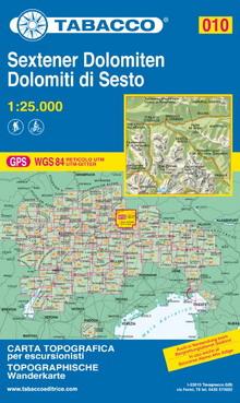 Tabacco map Dolomiti di Sesto