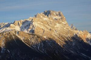 Il massiccio del Sorapiss visto da Cortina