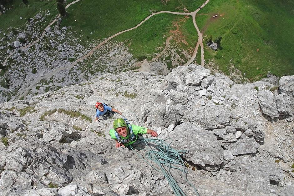 Jukka and Jon climbing Torre Grande