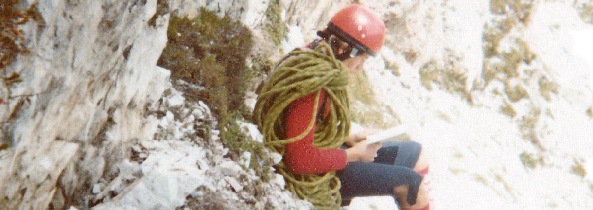 Enrico Maioni alla base del Camino Casar