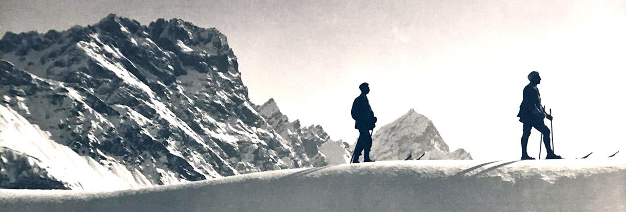 Skiing in Cortina, long time ago